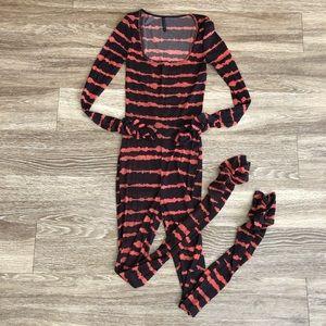 UO • nwot patterned mesh bodysuit